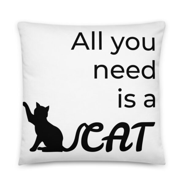 """Kissen """"All you need is a cat"""""""