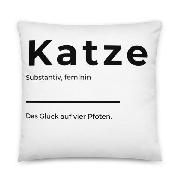 "Kissen ""Definition Katze"""