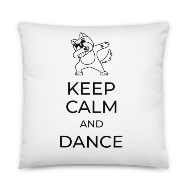 "Kissen ""Keep calm and dance"""