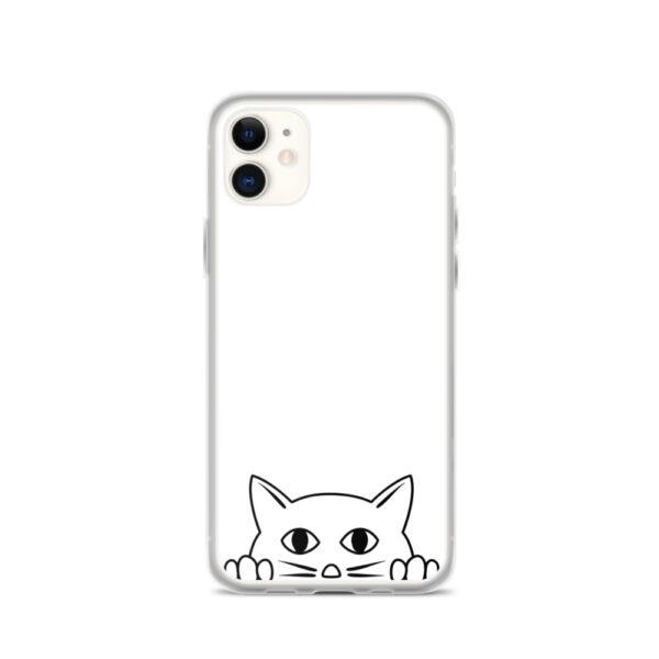 """iPhone Hülle """"Katze guckt über Rand"""""""
