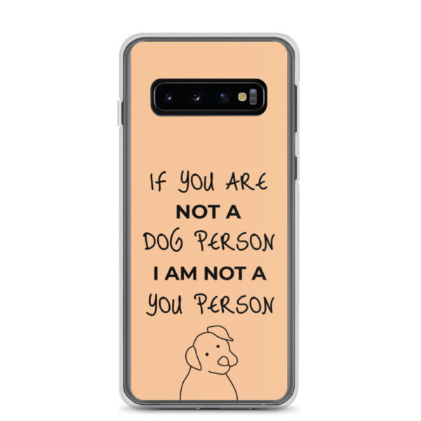 "Samsung Handyhülle ""If you are not a dog person (…)"""