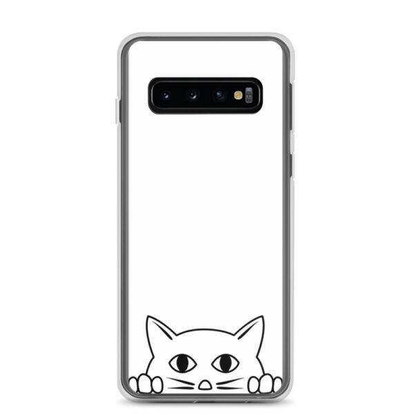 """Samsung Handyhülle """"Katze guckt über Rand"""""""