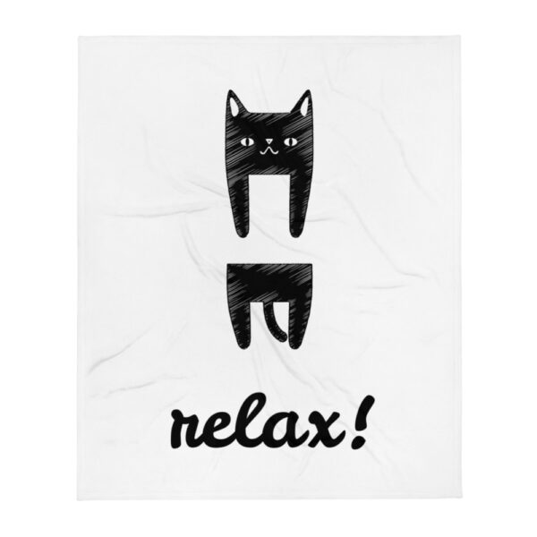 "Decke ""Relaxing Cat"""