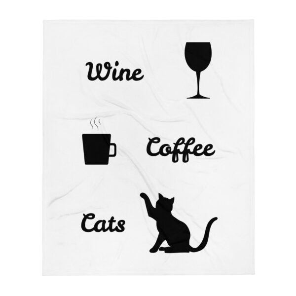 "Decke ""Coffe. Wine. Cats"""