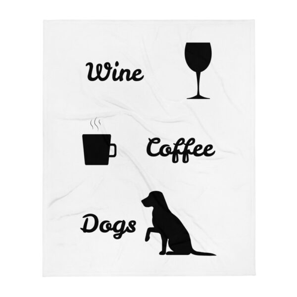 "Decke ""Coffe. Wine. Dogs"""