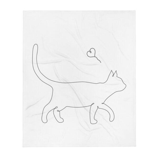 """Decke """"Lineart Cat"""""""