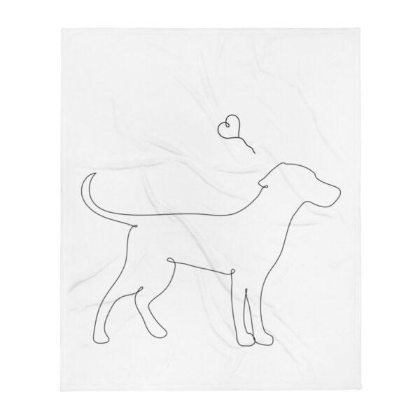 "Decke ""Lineart dog"""