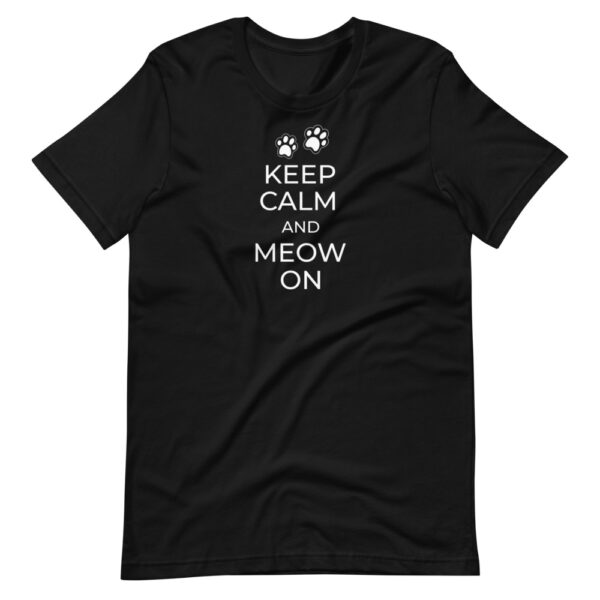 """Unisex-T-Shirt """"Keep calm and meow on"""""""