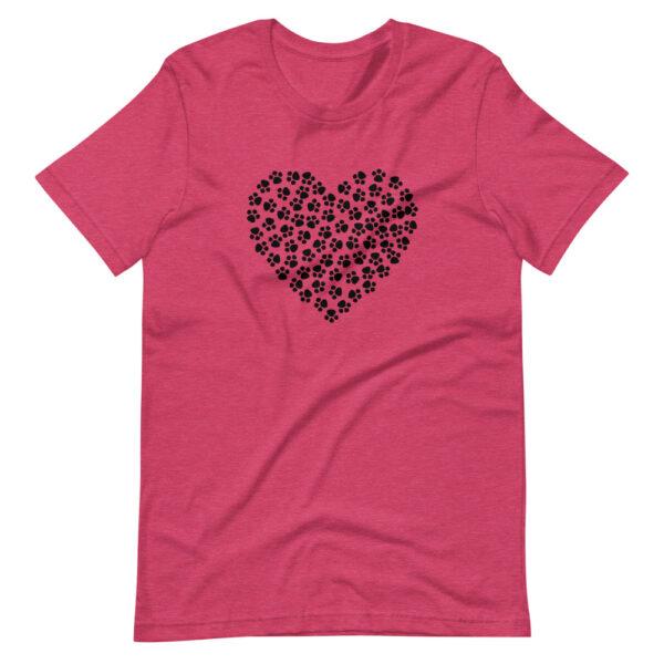 "Unisex-T-Shirt ""Pfotenherz"""