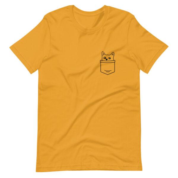 """Unisex-T-Shirt """"Katze in Tasche"""""""